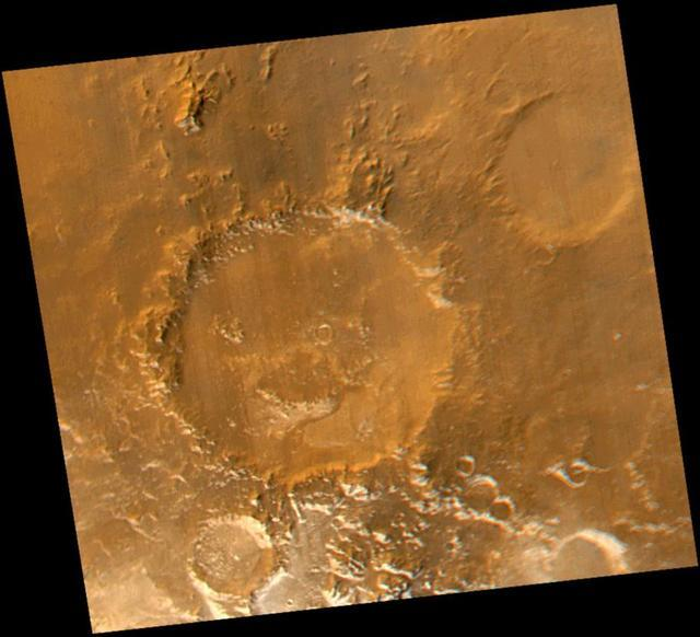 """Have a Nice Spring! MOC Revisits """"Happy Face"""" Crater"""