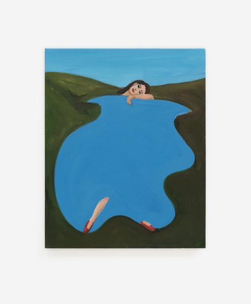 Becky Kolsrud, Resting Bather (Study), 2018