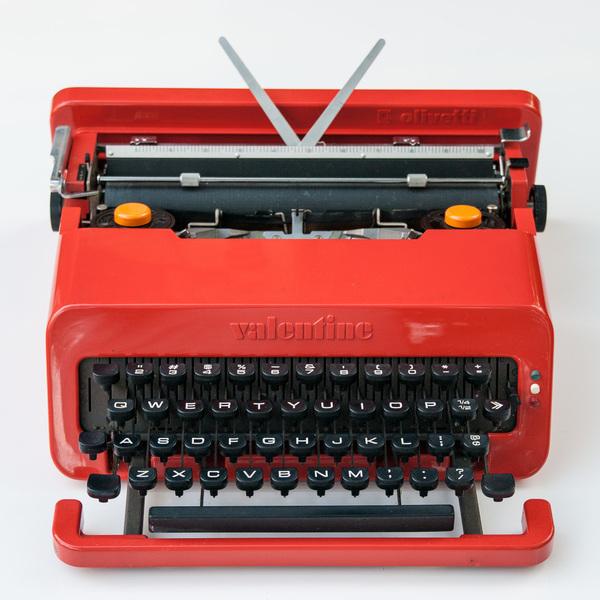 Valentine Olivetti typewriter
