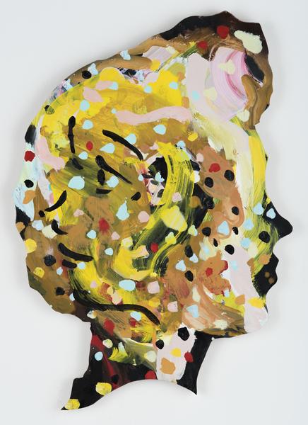 Becky Kolsrud, Double Portrait (Profile Dots), 2017