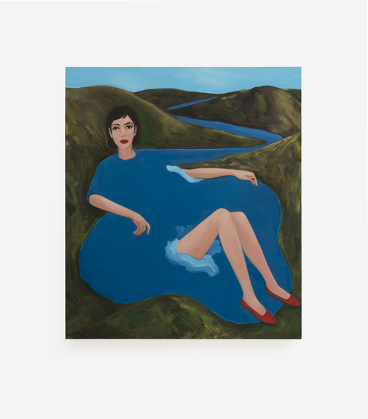 Becky Kolsrud, Bather in Red Shoes, 2018