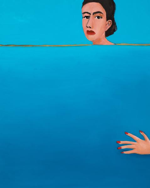 Becky Kolsrud, Allegorical Nude (Horizon), 2018