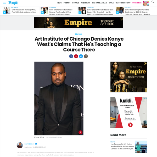 Art Institute of Chicago Denies Kanye West's Claims That He's Teaching a Course There