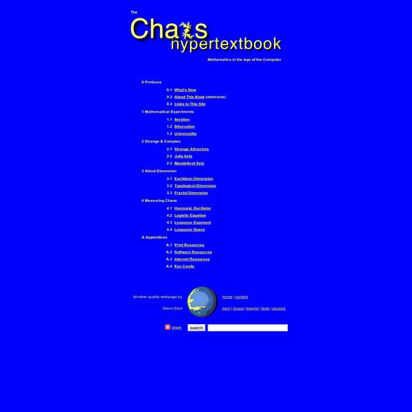 The Chaos Hypertextbook