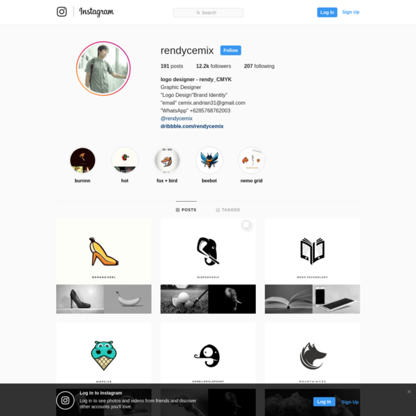 12.2k Followers, 207 Following, 191 Posts - See Instagram photos and videos from logo designer - rendy_CMYK (@rendycemix)