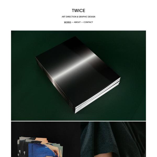 TWICE 2 - ART DIRECTION & GRAPHIC DESIGN