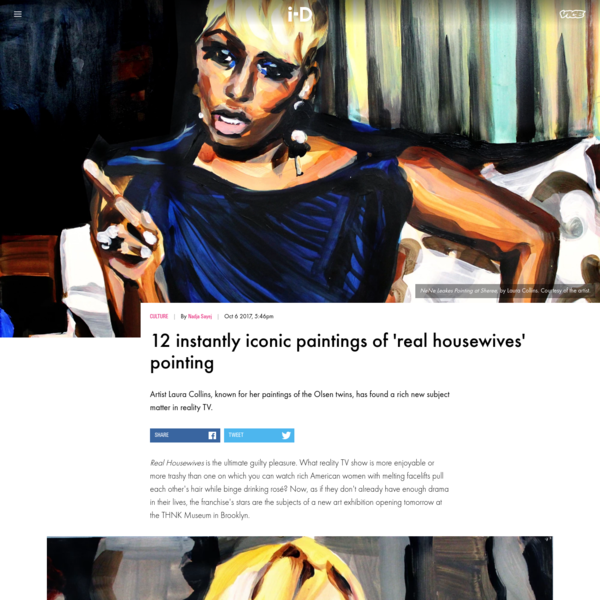 12 instantly iconic paintings of 'real housewives' pointing