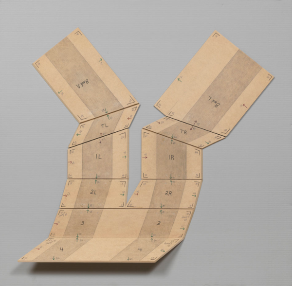 Diane Simpson, Study for Tunic (folded), 2012