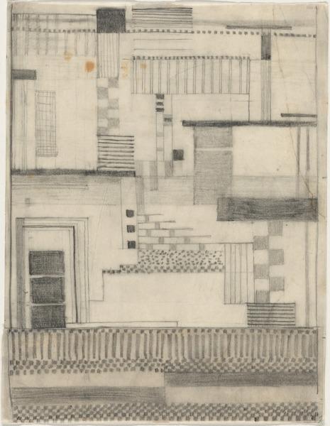 Gunta Stölzl, Working Drawing for Wall Hanging, 1924