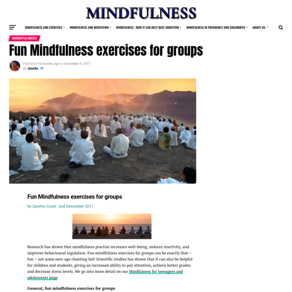 Fun Mindfulness exercises for groups | Mindfulness and Mindfulness Exercises