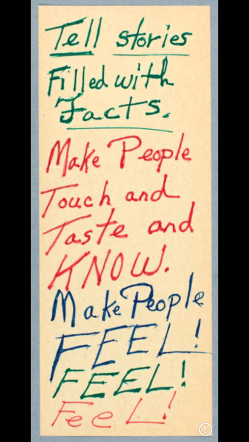 Octavia Butler's note.