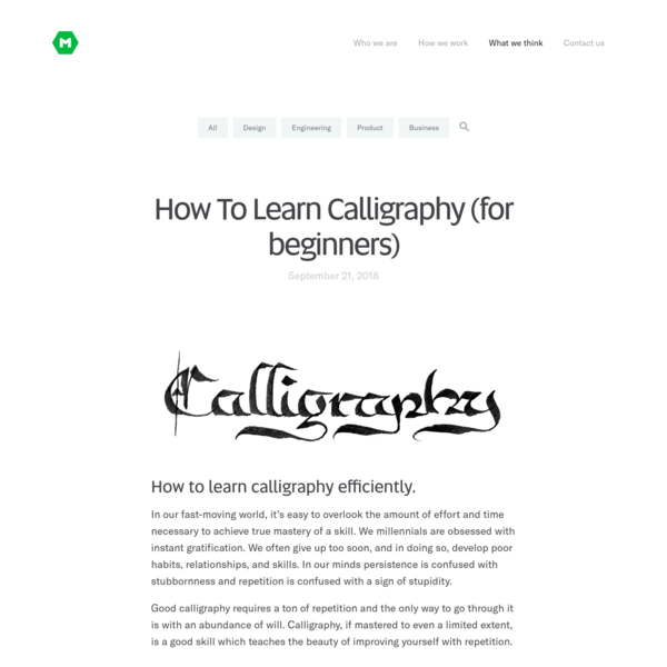 How To Learn Calligraphy (for beginners)