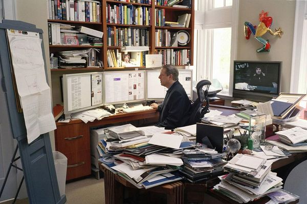 Al Gore in his office