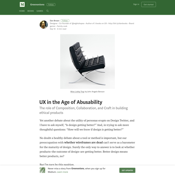 UX in the Age of Abusability - Greenonions