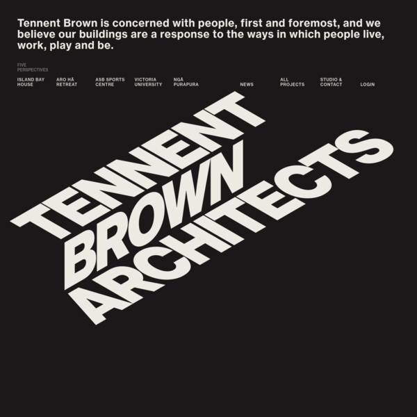Tennent Brown Architects