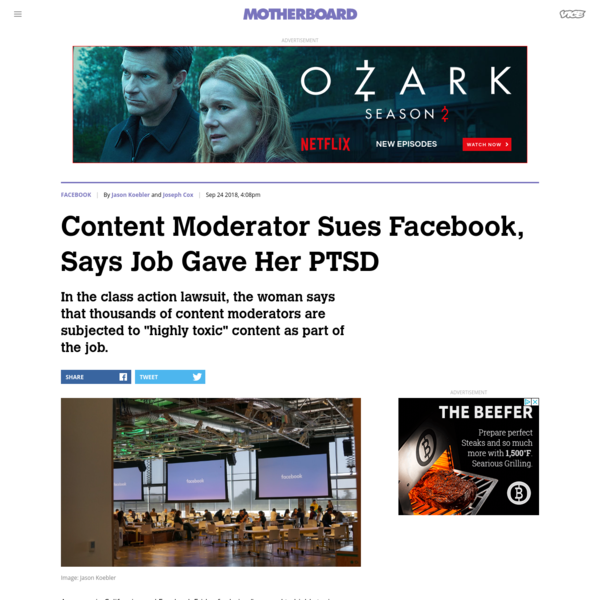A Former Content Moderator Is Suing Facebook Because the Job Reportedly Gave Her PTSD