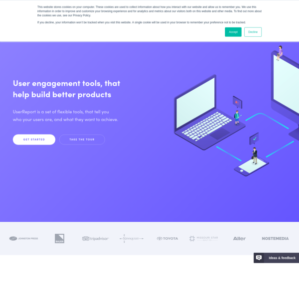 UserReport: Simple user engagement tools, that help you improve