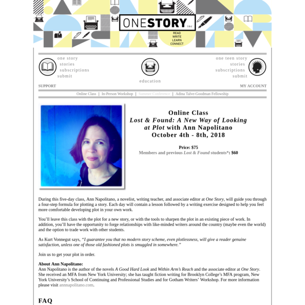 One Story - Online Class