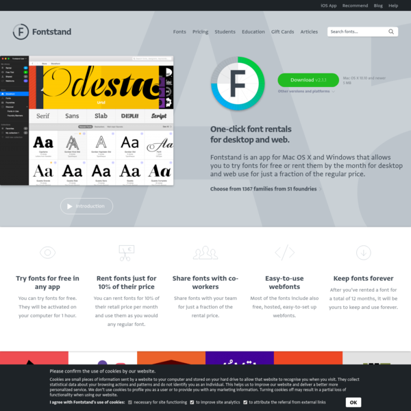 Fontstand - try fonts for free or rent them