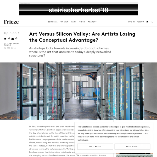 "Gary Zhexi Zhang, ""Art Versus Silicon Valley: Are Artists Losing the Conceptual Advantage?"""