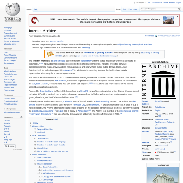 Internet Archive - Wikipedia