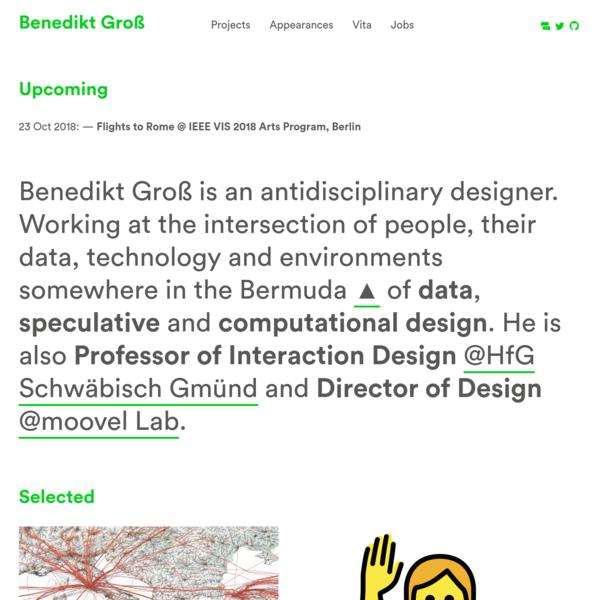 Portfolio Website of Benedikt Groß