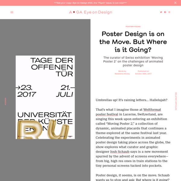 Poster Design is on the Move. But Where is it Going?
