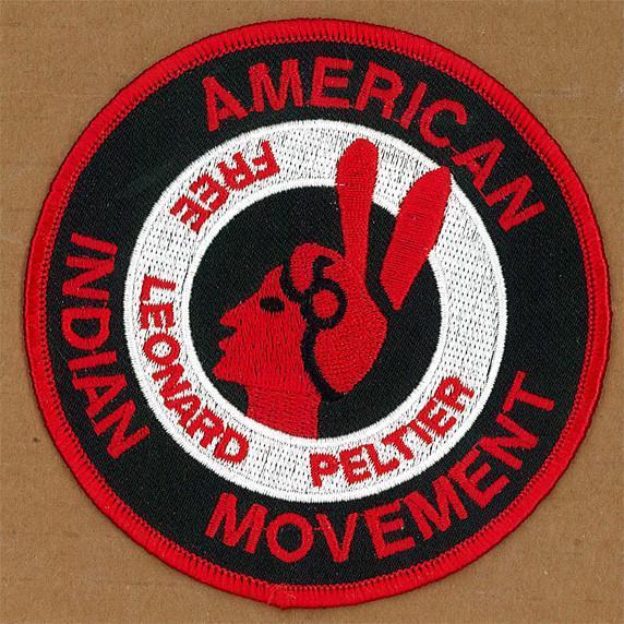 Free Leonard Peltier - AIM Logo Patch