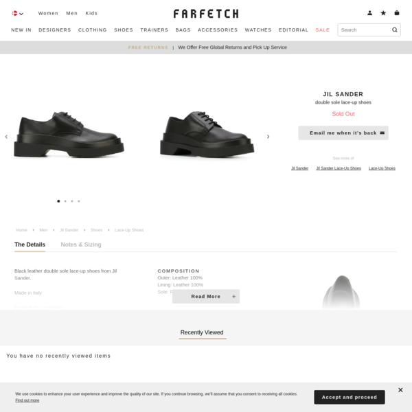 Jil Sander Double Sole Lace-up Shoes - Farfetch
