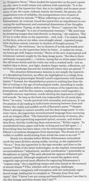 "Joseph, Branden W. (ed.), ""Introduction: Voyages in Cloudland"", _Carolee Schneeman: Uncollected Texts_ (New York: Primary Information, 2018), pp. 15–16."