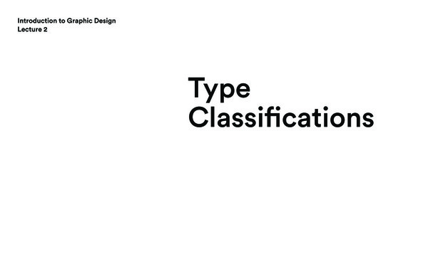 Lecture 2: Type Classifications