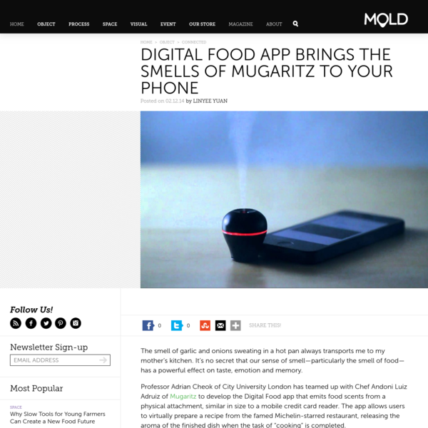 Digital Food App Brings the Smells of Mugaritz to Your Phone