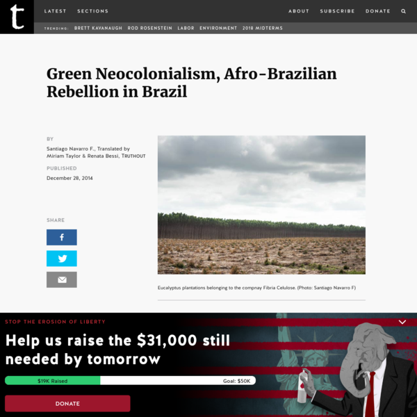 Green Neocolonialism, Afro-Brazilian Rebellion in Brazil