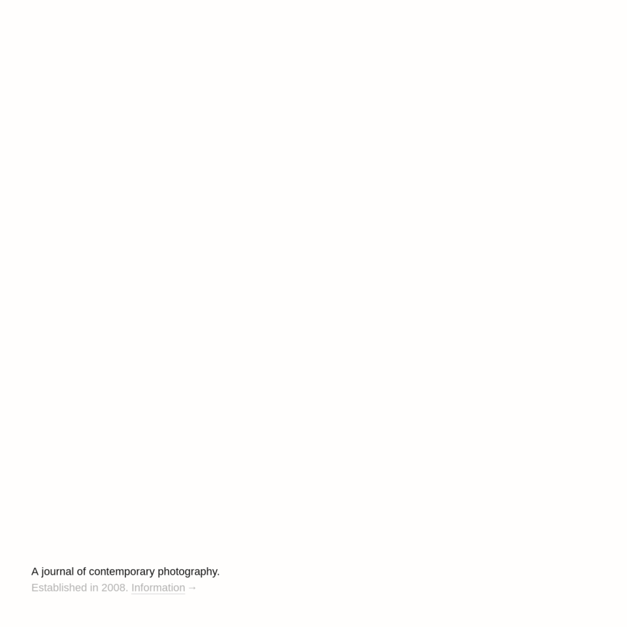 A journal of contemporary photography.