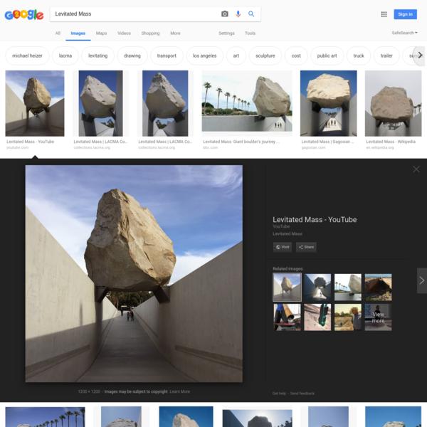 Levitated Mass - Google Search