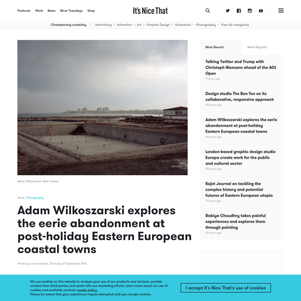 Adam Wilkoszarski explores the eerie abandonment at post-holiday Eastern European coastal towns