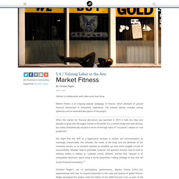 Market Fitness | Art Practical
