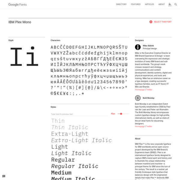 Making the web more beautiful, fast, and open through great typography