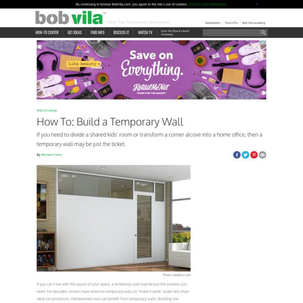 How to Build a Temporary Wall - Bob Vila