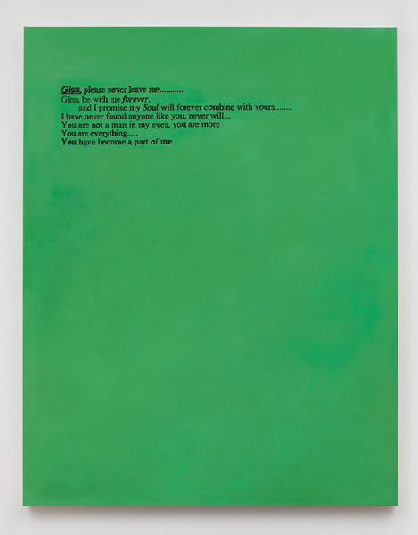 Glen Fogel, From Lucas (spring 1995, green), 2018