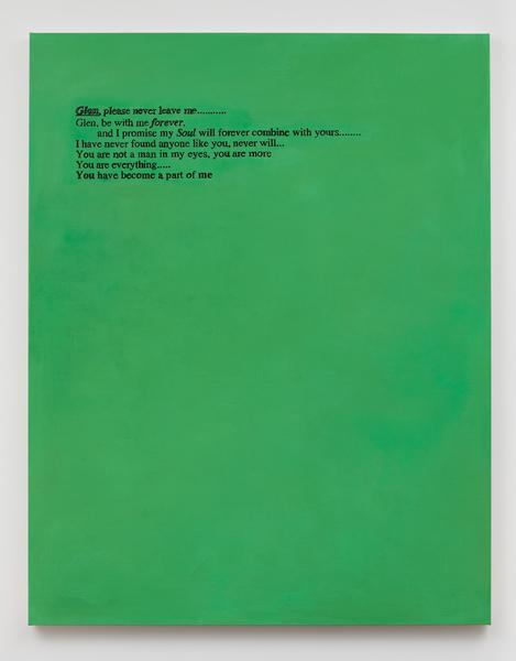 Glen Fogel, From Lucas (spring 1995, green), 2018