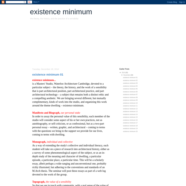 existence minimum