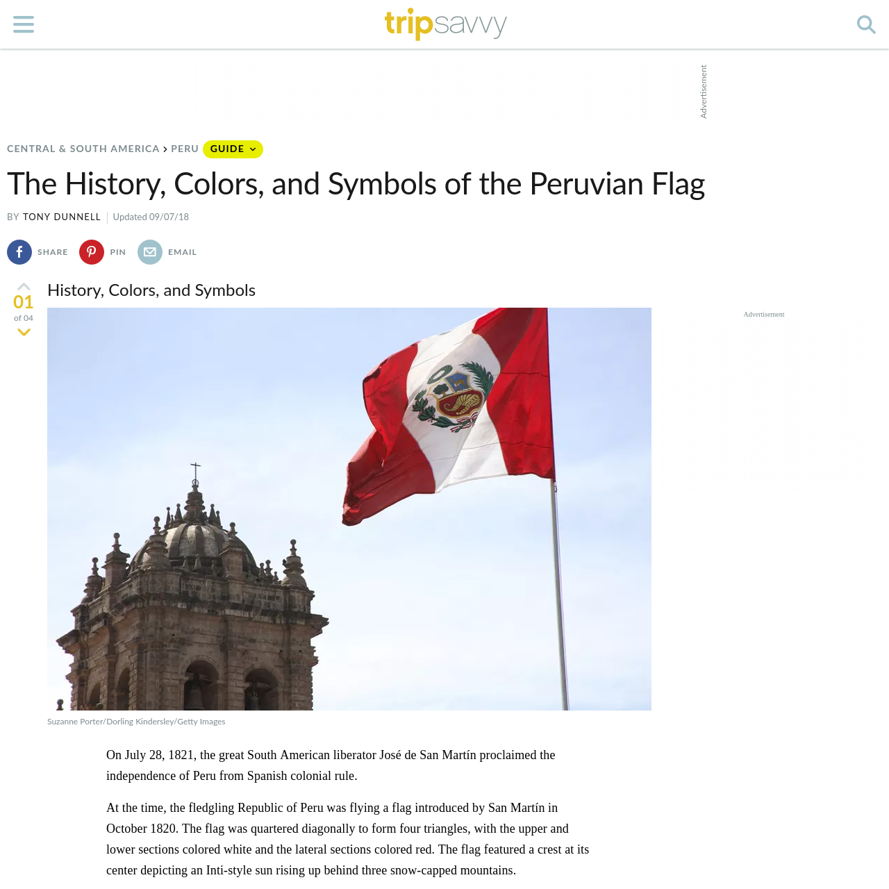 Are na / The History, Colors, and Symbols of the Peruvian Flag