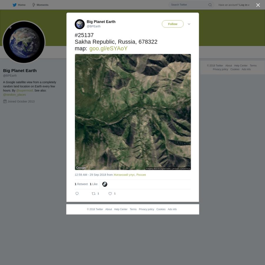 25137 Sakha Republic, Russia, 678322 map: https://t.co/JfXRnGDPNZ