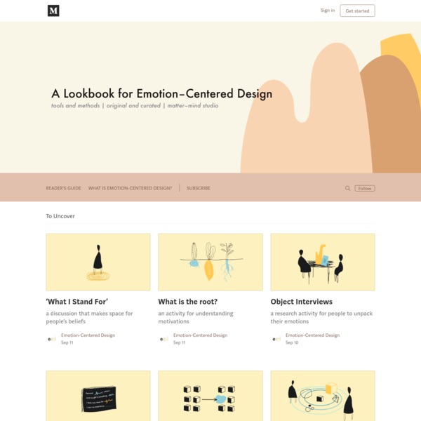 tools and methods for understanding and designing for emotion.