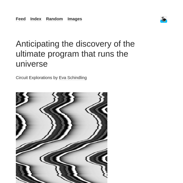 Anticipating the discovery of the ultimate program that runs the universe - but does it float