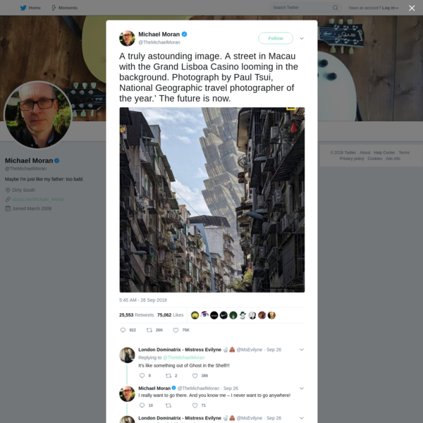 Michael Moran on Twitter