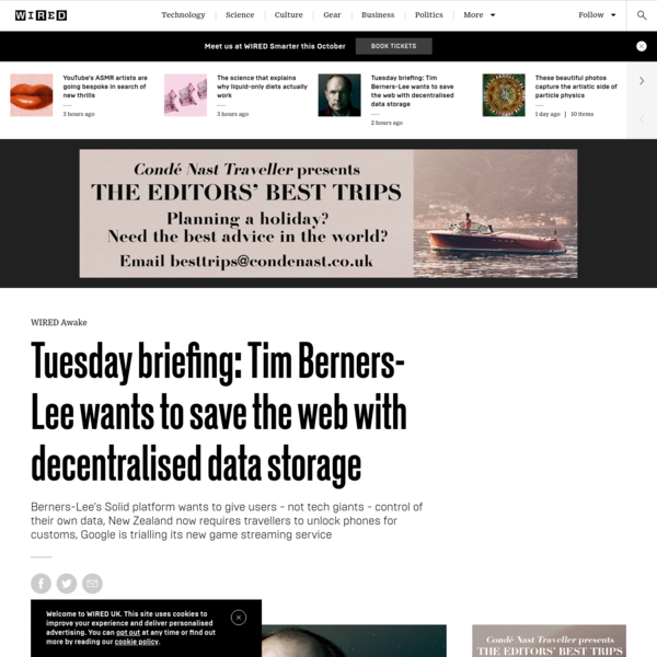 Tuesday briefing: Tim Berners-Lee wants to save the web with decentralised data storage