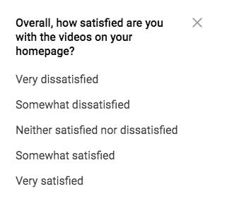 Youtube survey