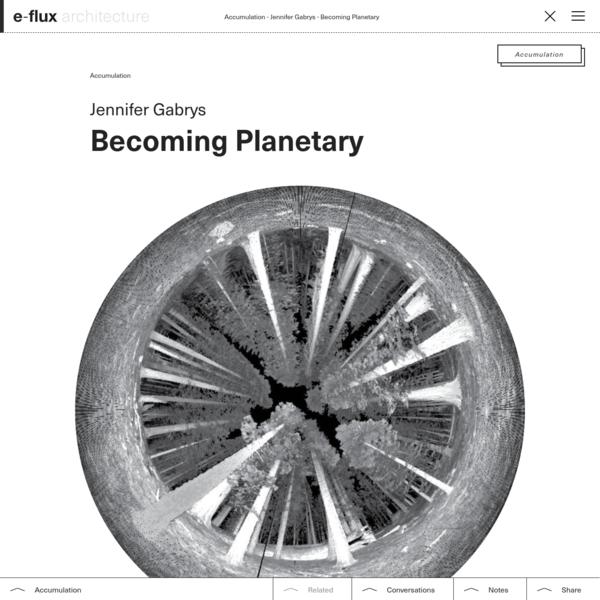 Becoming Planetary